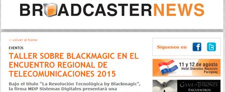 28/05/2015 - Taller sobre Blackmagic en el Encuentro Regional de Telecomunicaciones 2015