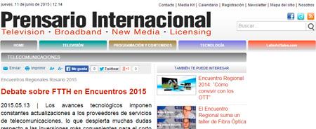 13/05/2015 - Debate sobre FTTH en Encuentros 2015