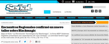 01/06/2015 - Encuentros Regionales confirmó un nuevo taller sobre Blackmagic