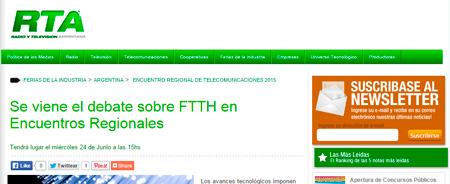 15/05/2015 - Se viene el debate sobre FTTH en Encuentros Regionales