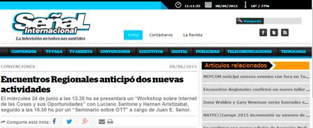 08/06/2015 - Encuentros Regionales anticipó dos nuevas actividades