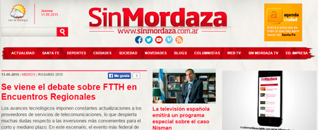 13/05/2015 - Se viene el debate sobre FTTH en Encuentros Regionales
