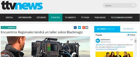 27/05/2015 - Encuentros Regionales tendrá un taller sobre Blackmagic