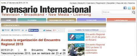 21/01/2015 - Avanza la organización del Encuentro Regional 2015