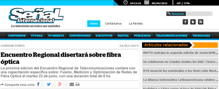 24/02/2015 - Encuentro Regional disertará sobre fibra óptica