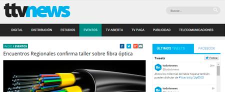 19/02/2015 - Encuentros Regionales confirma taller sobre fibra óptica