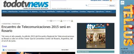 02/12/2014 - Encuentro de Telecomunicaciones 2015 será en Rosario